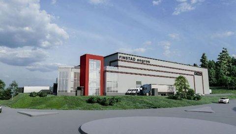 NYBYGG: Finstad Engros er blant leietakerne i det kommende næringsbygget i Hanekleiva.