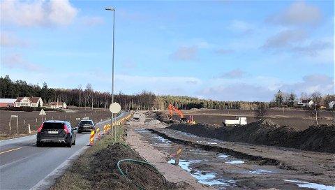 STENGES: Haldenveien vil være stengt i fire dager fra torsdag til mandag.