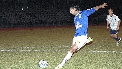 STRAFFEMÅL: Abdullah Ashraf scoret Askims eneste mål på straffe da det endte med 1-5-tap i toppoppgjøret borte mot Drøbak/Frogn 2. ARKIVFOTO