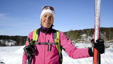 KLAR: Lørdag blir det 54 kilometer lange Birkebeinerrennet fra Rena til Lillehammer arrangert for 80. gang. For Berit Enger (71) blir det hennes aller første.