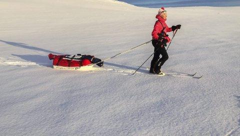 STOR ALLSIDIGHET: Ingeborg deltok for et par år siden i verdens tøffeste skirenn, Expedition Amundsen, 100 km på ski med 40 kg pulk.
