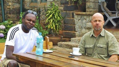 I NORGE: Norbert Tjore og Geir Østrem driver reisebyrå som arrangerer turer til Kenya. Geir Østrem er i Norge, men store deler av familien er i Nairobi akkurat nå. Arkivfoto