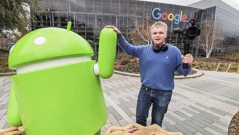 Silicon valley: Karl Ingarrd Sæther (18) er innom flere sentre i Silicon Valley. Bedriften han jobber for har i det siste hatt fokus på å forklare avanserte temaer om teknologi på en forståelig måte.