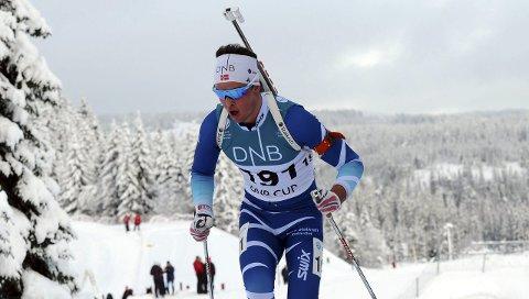 I FORM: Aslak Nenseter gikk fort da han var med og kjempet om sin aller første NM-medalje i seniorsammenheng. Det ble fjerdeplass på Ulefoss-gutten. FOTO: SVEIN HALVOR MOE