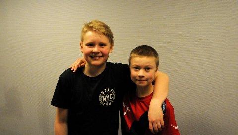 Klare: Tobias Aasland og Henrik Holt fra Poseidon er klare til dyst i svømmehallen.