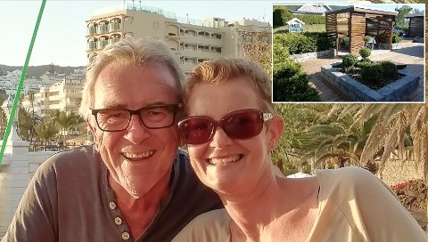 KAN VINNE: Inge Helge Mikkelsen fra Notodden og hans samboer Mona Liane har hatt stor glede av å designe både hus og uteområde selv. De fikk bekreftelse på godt utført arbeid da deres uteplass ble nominert til pris.