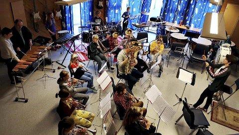 Fant tonen: Frei og Kristiansund skolekorps hadde seminar i helga. Tirsdag er det konsert. Foto: Wawrek Podraza
