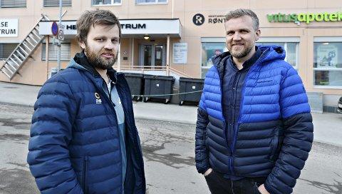 Idrettsleger: Ola Lian (venstre) og Per Olav Kvalvåg lover at Kristiansund Idrettsklinikk skal gi idrettsutøvere og andre et tilbud som ikke finnes i vår region fra før.