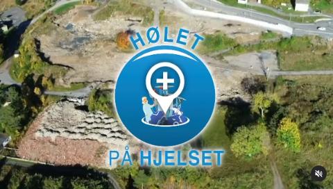 """Slik avslutter """"Nytt på nytt"""" sin videopresentasjon av Sykehuset Nordmøre og Romsdal i en video de har lagt ut på sin Instagram-konto. Videoen vil trolig bli brukt i sendingen fredag kveld."""