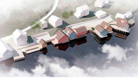 BRYGGEHUS: Kristian Fjelnset har planer om å utvikle en tidligere fabrikktomt i Otnesbukta.