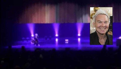 HER GIKK SCENETEPPET NED: Showet med komiker Kristian Valen var satt opp fra klokka 19.00 fredag kveld. Det ble avlyst etter en halvtime.