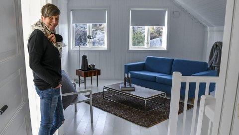 Harmoni: I andre etasje blir du møtt av en fristende stuekrok. I denne etasjen er også gulvene hvite.