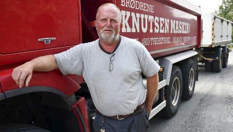 Mener Xtra-listas poltikk er næringsfiendtlig: Kristian Knutsen mener håndtverksnæringen lider under bygge- og deleforbudet i Lyngør. Foto: A.D.