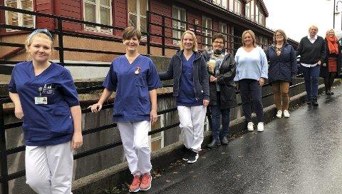 Lederne: (f.v) Liv Marit Haugum, Karen Sophie Botn, Kari Anne Walle Bjerkaker, Mona Hanssen, Laila Anita Soursa, Anna Elisabeth Pedersen, Kristine Kvamme og Liv Siljan.