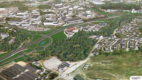Snart opning: Frå 9. oktober kan du kjøre på firfelts motorveg mellom Sandvika og Vøyenenga.