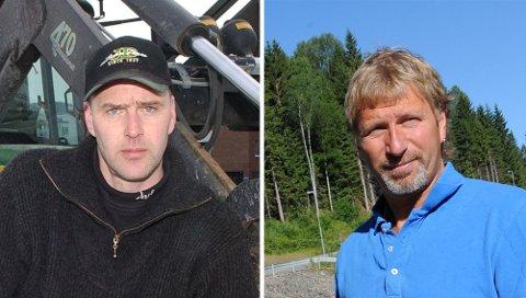RIKEPÅEIENDOMSHANDEL:Even Stovner (t.v.) og Tommy Ihlen fikk bra med penger for det gamle Kvernstujordet, som de eide hver sin halvdel av.