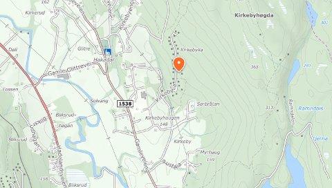 VENTERPÅKLOAKKLØSNING:Kirkebylia ligger i lia øst for Hakadal kirke.