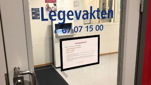BLIRIKKENEDRENT:Legevakta i rådstua har fått mange telefoner om koronavirus de siste dagene, men har ikke hatt står pågang av pasienter.