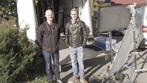 Film: Øistein Hartz Ulvær og Lars Eia Kirkholm filmet på Bjørnebekk i Kroer. foto: Solveig wessel Foto: Solveig Wessel