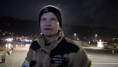 Bjørn Morris Egenes fra Brannvesenet Sør stasjon Åmot