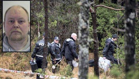 Etter å ha vore sakna i nær eitt år blei John Arve Breivik (innfelt) funnen død i eit skogsterreng på Breistein i Åsane i januar 2016. FOTO:  BA/Privat