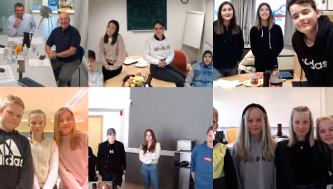 DIGITALT MØTE: Møtet i barn og unges kommunestyre var digitalt.