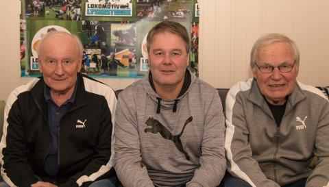Steinar Pettersen, Bjørn Petter Ingebretsen og Arne Scheie i studio.