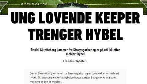 SLETTET: Denne artikkelen ble tatt bort onsdag kveld, da Strømsgodset svarte på den på Twitter.