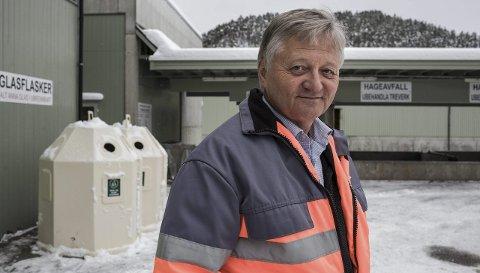 AVVENTAR: Tidlegare SUM-sjef Håkon Grepstad er ikkje sikker på utfallet av prøvane som skal takast av avfallshaugen, men han trur SUM og myndigheitene vil finne ei god løysing.
