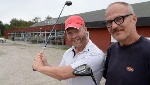 Jørgen Wahlberg og Jarmo Tolvanen er begge habile golfspillere. Søndag skal de være med på FB Open.