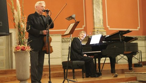 Kommer tilbake: 9. mars er Arve Tellefsen klar for aulaen. Men Håvard Gimse er ikke med på piano denne gangen.