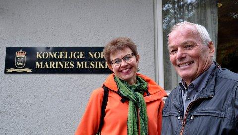 SAMLER TROPPENE: Kathrine Kleveland og Jan Nærsnes tar initiativet til en tverrpolitisk støtteaksjon for Marinemusikken.