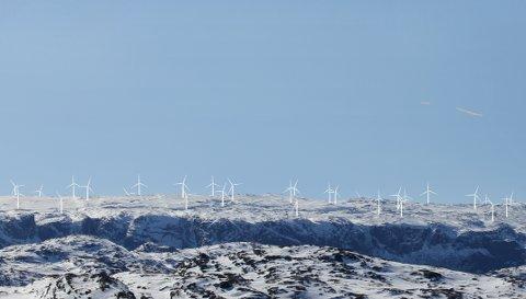 Slik kan det bli seende ut når vindkraftverket på Gilja står ferdig (fotomontasje: Fred. Olsen Renewables).