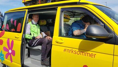 Willy Steinskog fra Ålgård var gjest i NRKs sommerbil som kjører Norge rundt i sommer.