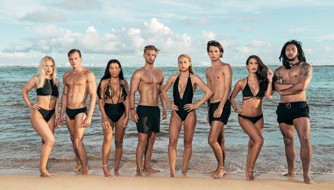 REALITY MED EN TWIST: Malin Håvardsdotter Jensen (nummer fem fra venstre) er en av de åtte deltakere i «Ex on the Beach», som har premiere tirsdag kveld.