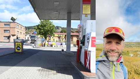 Mandag stenges  Løkkegata mellom Fåberggata og Storgata. Geir Øyvind Sveen, driver av YX 7-Eleven i Løkkegata måtte fredag ta seg en tur på fjellet for å få ut litt frustrasjon.