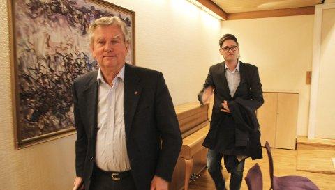 – MÅ TENKE LANGSIKTIG: Stein Aukner og Bjørn Niklas Sjøstrøm, henholdsvis administrerende direktør og styreleder i Hadeland energi og Hadeland kraft.