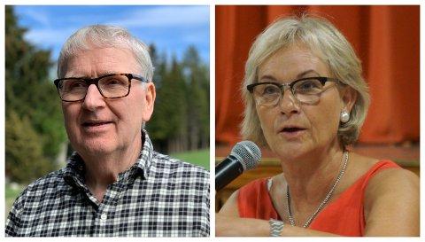 TYDELIGE: Kommuneoverlege Are Løken og ordfører Randi Eek Thorsen informerte Gran kommunes innbyggere på en pressekonferanse onsdag.