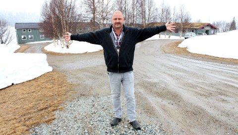 Klar: Leder Morten Sørgård i KOA fotografert i forbindelse med et besøk på Børgefjellskolen i april 201. Han håpet på 20–25 ansatte innen tre år. Foto: Jon Steinar Linga