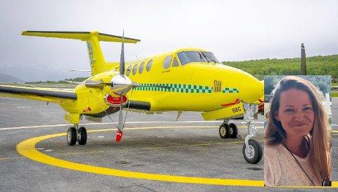 SATT PÅ BAKKEN: Etter at fem av disse flyene er satt på bakken er ambulanseflyberedskapen i Finnmark kritisk lav. – Nå må myndighetene reagere, tordner kommunelege Hanne Heszlein-Lossius (innfelt).