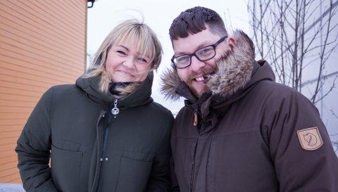 GODT SAMARBEID: Gry-Anita Kristiansen og Robert Lundgren forteller at de har et godt samarbeid, og at de har god tro på dette.
