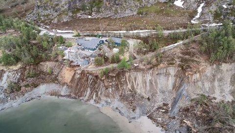 Kvikkleireskredet onsdag på Kråkenes utenfor Alta var svært stort.