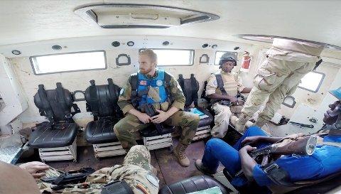 Nicolai Mønster fra Holmestrand tjenestegjør i FNs internasjonale fredsstyrke MINUSMA i det vestafrikanske landet Mali.