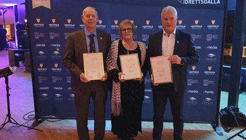 Hedret: Harald Weseth var nominert til «Årets Ildsjel», Jette Bekkestad Anholt og Tom Akerhaug ble også hedret. Svein Willy Røyne var ikke tilstede.foto: Privat