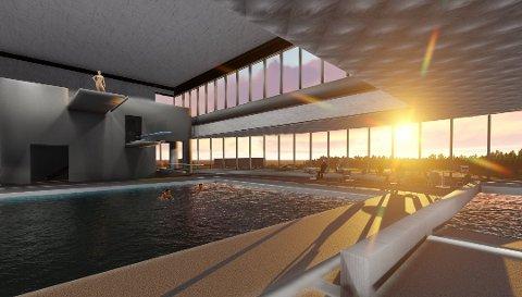 ÅPNER TIL VÅREN: Mange ser fram til at kommunens nye badeanlegg skal åpne. Nå blir det forsinkelser.