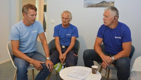 REAGERER: El- og IT-forbundet i Kvinnherad Breiband. F.v. Edmund Tofte, Gunnar Vaage og Håkon Røstbø.
