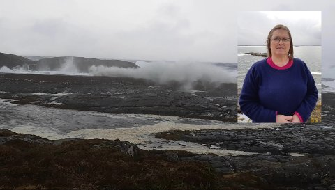 På en øy-gruppe i Møre og Romsdal sitter Marit Bredsten værfast.