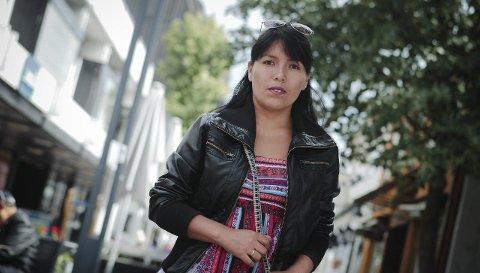 Etterlyser moral: – Skolen burde gripe inn i etniske konflikter, sier Janet Marleyn Ortiz Arquínigo. Hun føler seg diskriminert på Moss Voks.foto: terje holm