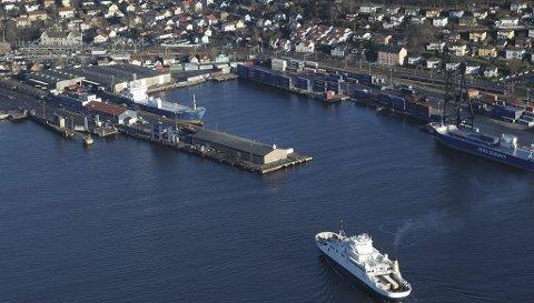 Verdt å kjempe for: Havneområdet i Moss.