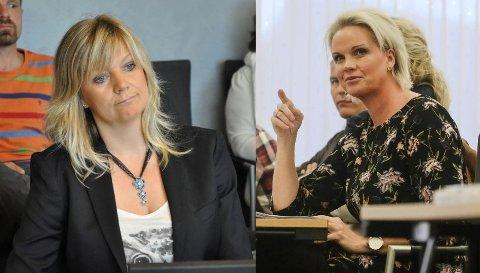 HØY TEMPERATUR: – Hvis dette er et stikk til Ap, så er det skivebom, sier Aps Annette Mjåvatn (til høyre), som reagerer kraftig på varaordfører Eirin Bolles utspill.
